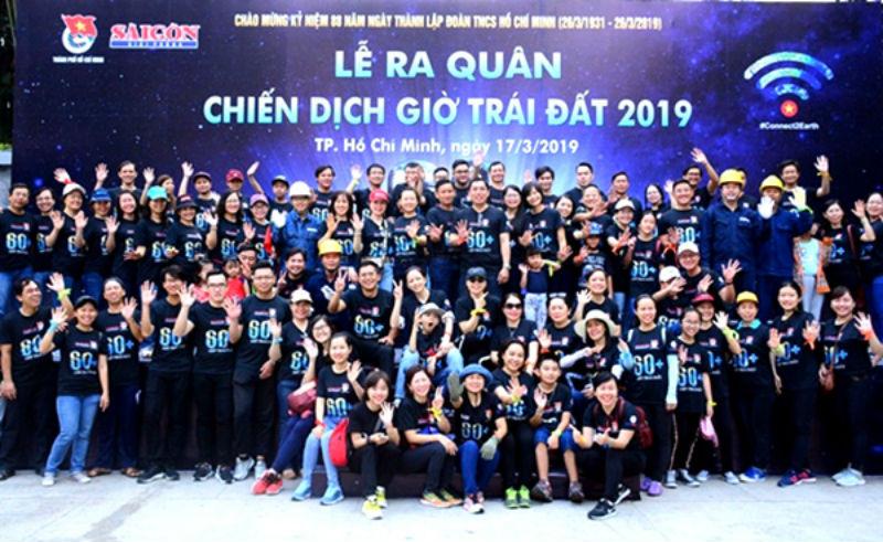 TP. HCM cùng 63 tỉnh thành cả nước ra quân chiến dịch giờ trái đất 2019 2019 - Môi Trường Miền Đông #khihau #moitruong #vietnam #Environmental #việtnam