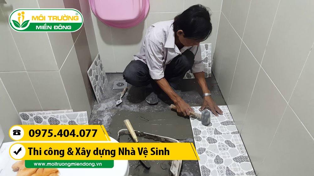 Thi công lát sàn nhà vệ sinh - phòng WC tại Thành phố Thủ Dầu Một, Bình Dương ☎ 0975.404.077 #moitruong #vietnam #Environmental #việtnam #wc #nhavesinh #BìnhDương